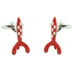 Coloured Tintin Rocket Cufflinks