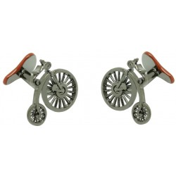 Victorian Bicycle and Seat Cufflinks