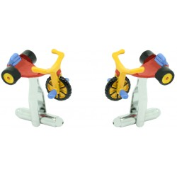 Multicolor Tricycle Cufflinks