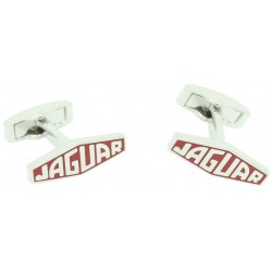 Wholesale Red Jaguar Letters Logo Cufflinks