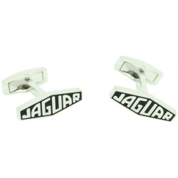 Black Jaguar Letters Logo Cufflinks