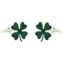 Wholesale Green Four Leaves Clover Cufflinks