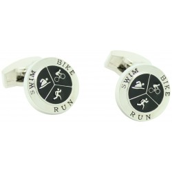 Wholesale Circular Triathlon Cufflinks