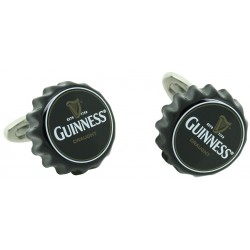Wholesale Black Guinness Beer Cap Cufflinks