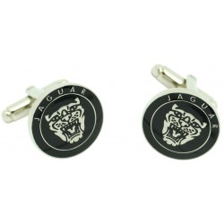 Black Jaguar Logo Grille Cufflinks