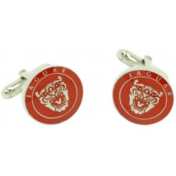 Red Jaguar Logo Grille Cufflinks