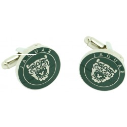 Green Jaguar Logo Grille Cufflinks