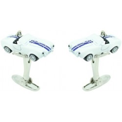 White Shelby Cobra Cufflinks