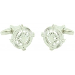 Silver Wind Rose Cufflinks
