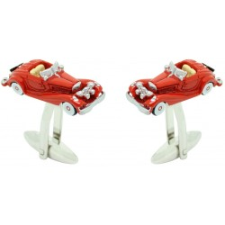 Red Classic Car Cufflinks