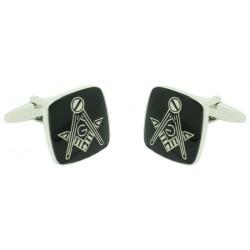 Black Square Masonry Symbol Cufflinks