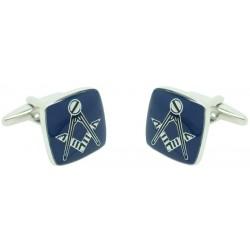 Gemelos para camisa Símbolo de Masonería Square Azul al por mayor