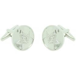 Silver Plated Masonry Symbol Cufflinks