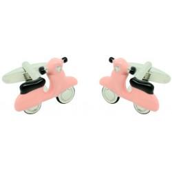 Pink Scooter Cufflinks