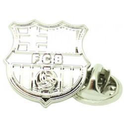 Silver Barcelona FC Pin