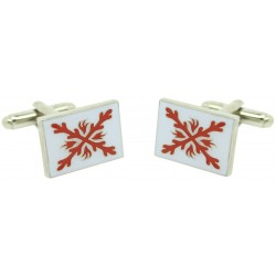 Wholesale White Tercio of Infantry Cufflinks