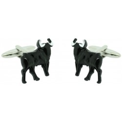 Black bullfight Cufflinks