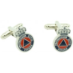 Civil Protection Shield Cufflinks