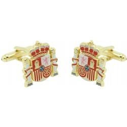 Gemelos Escudo Estado Español dorado