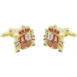 spanish state shield gold Cufflinks