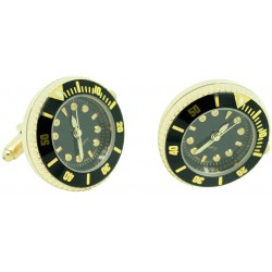 Gemelos Reloj Esfera black Golden