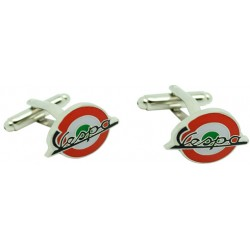 Green and Red Italy Mod Vespa Cufflinks