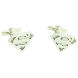 Sterling Silver SUPERMAN Cufflinks