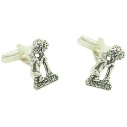 Cufflinks statue bear and madroño Madrid 925 Silver