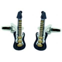 Gemelos Guitarra Eléctrica Azul marino 3D