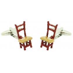 chair brown cufflinks