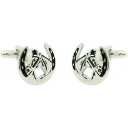 Horse and Horseshoe Cufflinks