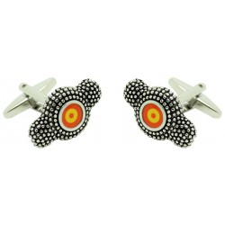 Montera cufflinks with roundel airplane flag of Spain