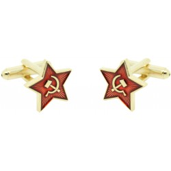 Communist star cufflinks