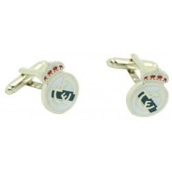 Silver smooth Real Madrid Cufflinks