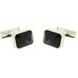 Gemelos Swarovski square violeta