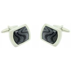 elegant square blue navy Onix cufflinks