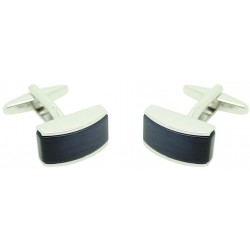 Cufflinks shirt Navy blue stone