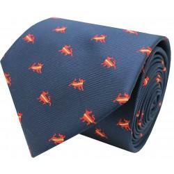 navy spain bull tie