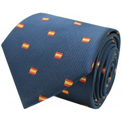 blue square Spain flag tie
