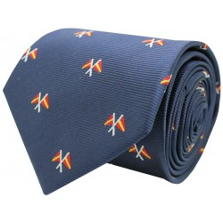 tie nautical flags of Spain blue