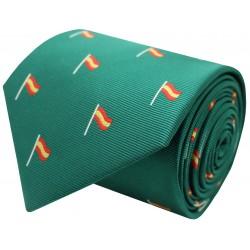 tie spain flag green mast