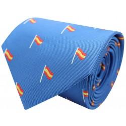 corbata españa bandera mástil azul claro