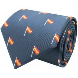 corbata españa bandera mástil azul marino