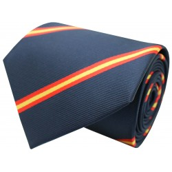 tie flag spain diagonal navy blue