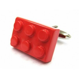 Red LEGO Brick Cufflinks